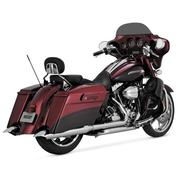 Vance & Hines Classic Slip-On Mufflers - Turn Down without Billet End Caps