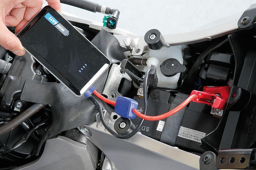 Carga batería de moto