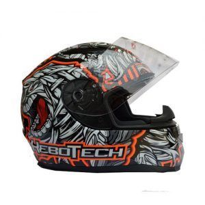 CASCO PARA MOTO HEBOTECH MUMMY YELLOW - 2